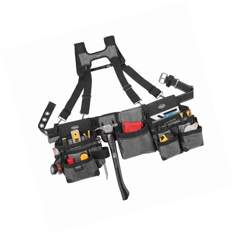 Bucket Mullet 3 Tool Set with Suspenders Grey, 55135