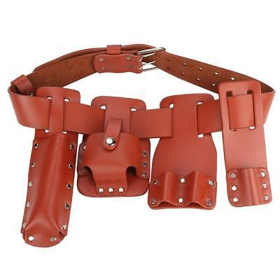 Multi Work Belt Leather Bag Dark Red