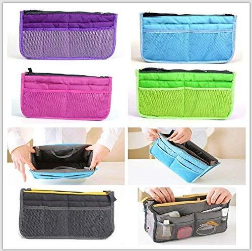 Multifunctional Travel For Women Bag Zipper Travel Pockets Makeup Bag 5 Double