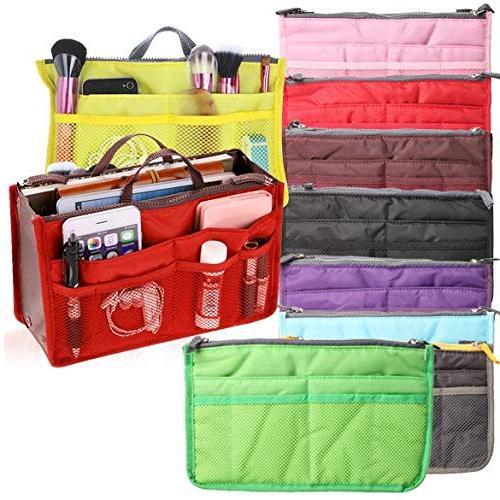Multifunctional Travel Travel Women Cosmetic Bag In Zipper Multifunctional Travel Pockets Bag Double Zipper Bag