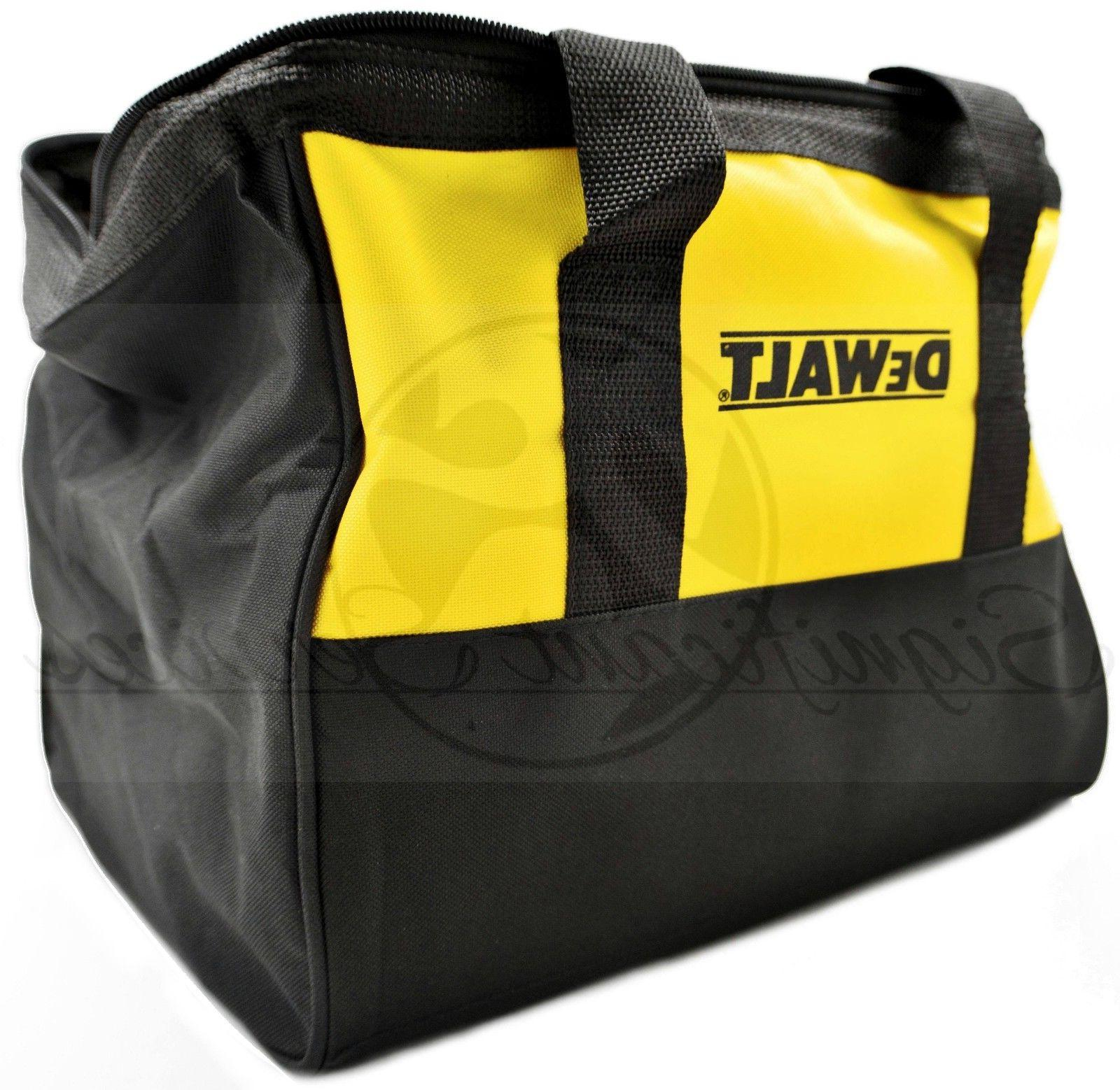 "NEW DeWALT Heavy Canvas Contractor Tool Bag Case 13"" X X 9"""