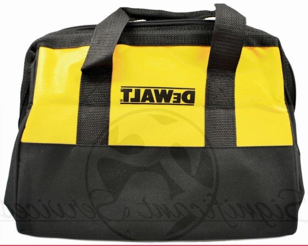 "NEW DeWALT Heavy Duty Canvas Contractor Tool Bag Case 13"" X"