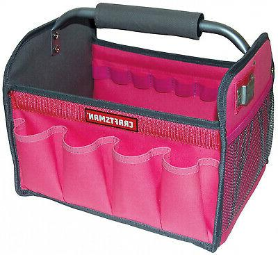 new pink 12 in tool set tote