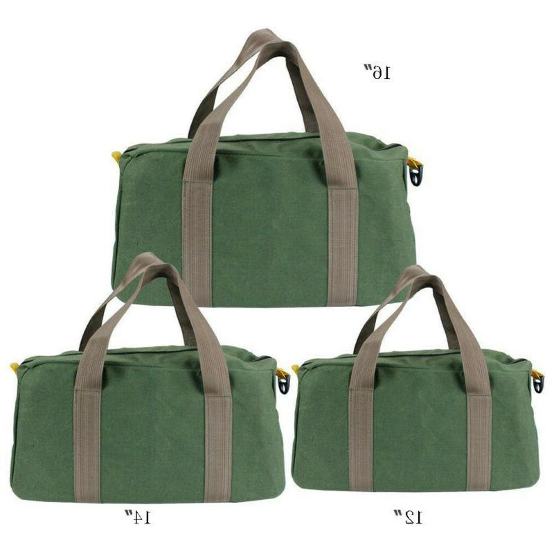 Newest Green 12/14/16 Canvas Multi-function Tool Bag