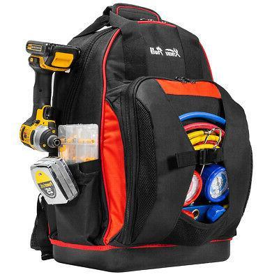 Backpack Tool Bag Carrier 38 Pocket Organizer For Electricia