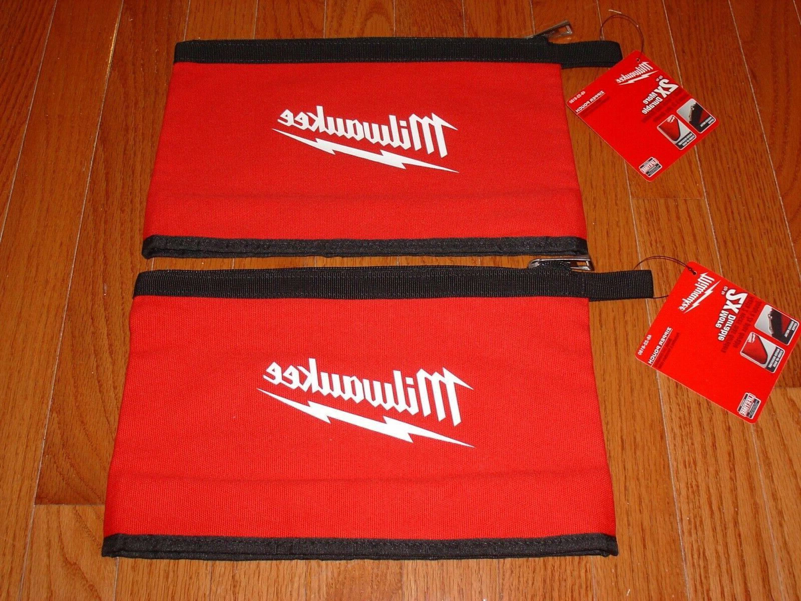 red zipper pouch bag heavy