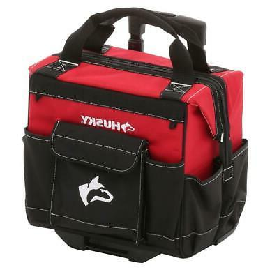 Husky 14 in. Rolling Mobile Heavy Duty Portable Tool Bag Sto