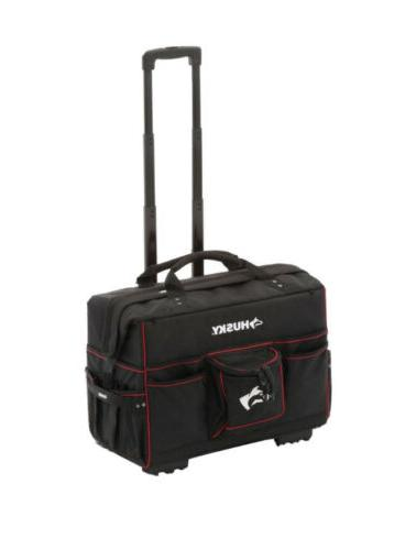 Husky 22 in. Rolling Mobile Heavy Duty Portable Tool Bag Sto