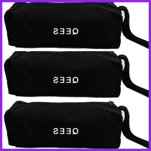 "Small Canvas Zipper Bag Set Of 9.5"" Heavy Duty Pouch Tote Purp"