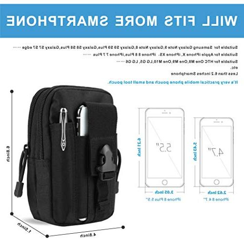 DOUN Universal Tactical EDC Pack Carry Case Bag for iPhone Sony