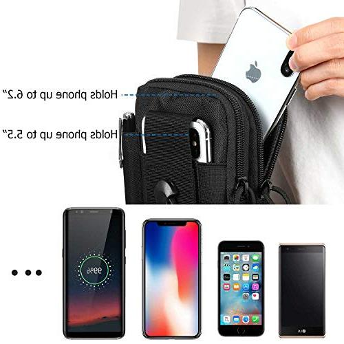 DOUN Universal Tactical EDC Case Pouch Belt Bag for 7 plus Sony Smartphone