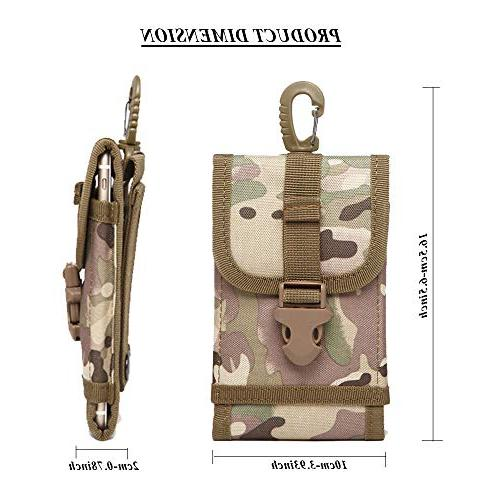 Tactical MOLLE Pouch Outdoor Belt Clip Pouch Waist Bag Case Max 8 Plus Money Samsung S7 Edge Plus