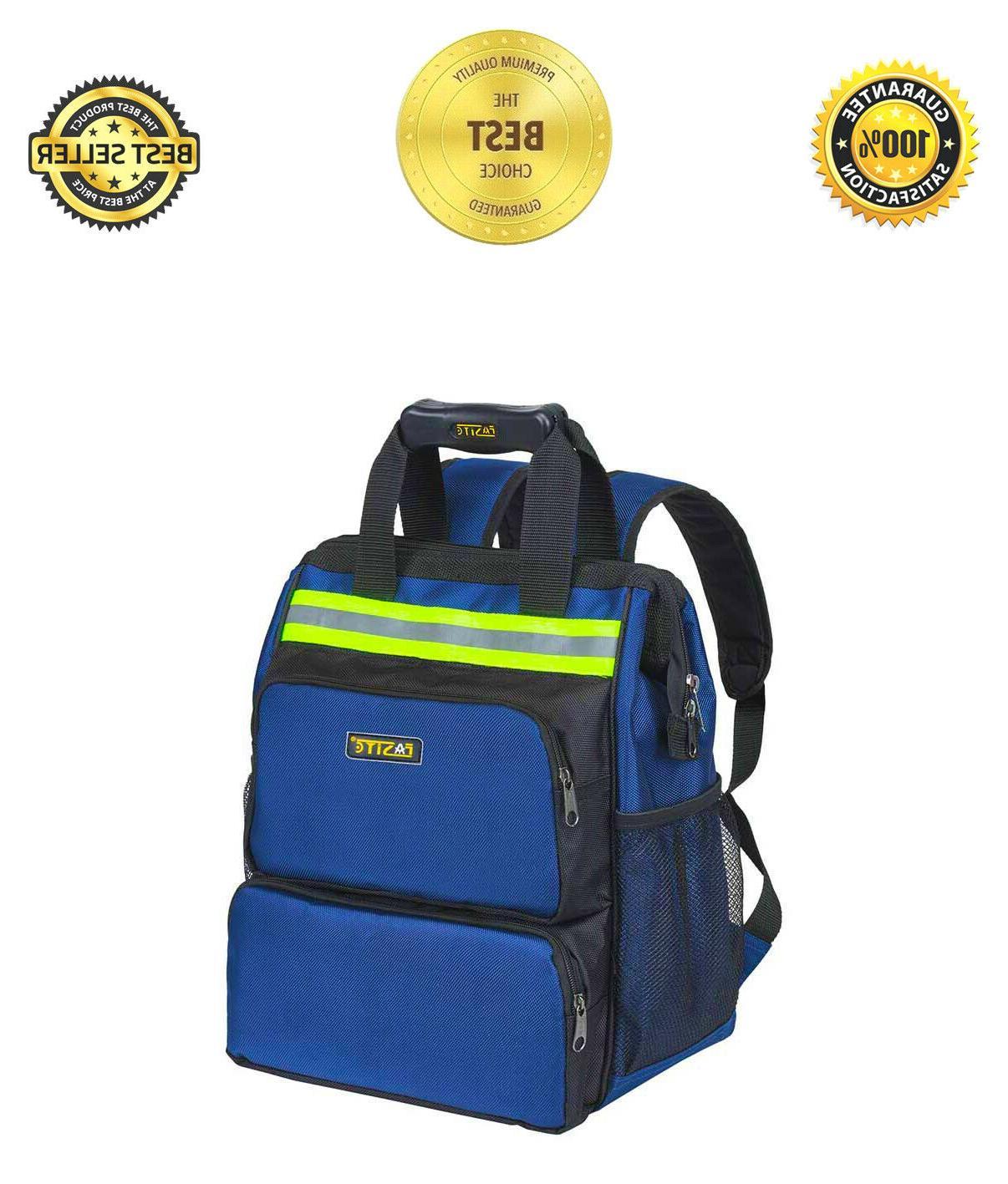 Tool Backpack Organizer Bag Many Pockets Back Pro