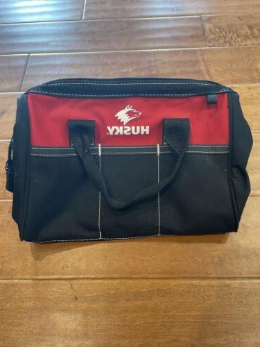 tool bag black and red organizer