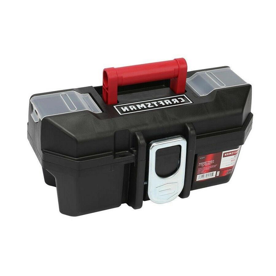 Craftsman Tool Box with Tray Organizer 13 Inch Portable Heav