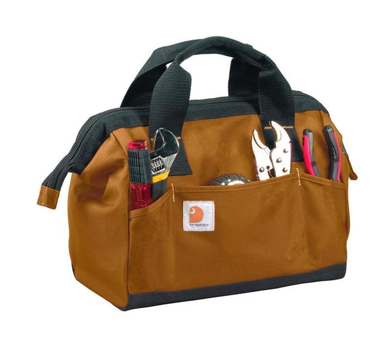 trade series tool bag medium brown or