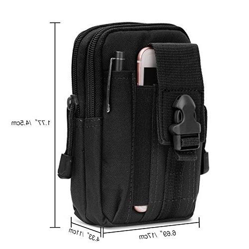 """MoKo Bag, Pouch Camping Trekking Belt Purse 6.5"""" iPhone Samsung Google Pixel XL"""