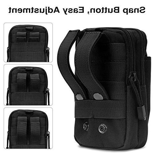 """MoKo Universal Waist Bag, Tactical EDC Pouch Camping Trekking Belt Purse for 6.5"""" iPhone Xs Max/XR/Xs/X/8 Samsung Google Pixel XL -"""