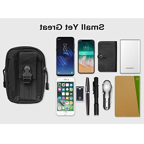 MoKo Bag, Tactical EDC Molle Pouch Camping Purse Phone, iPhone Xs Plus/8, XL