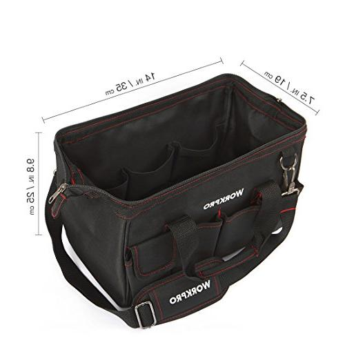 WORKPRO W081021A Tool Storage Bag Close Top Mouth 14-inch
