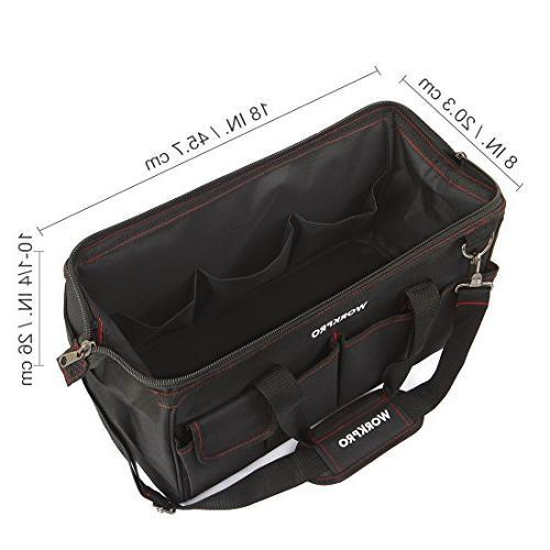 WORKPRO W081023A Storage Tool Bag, Black/Red