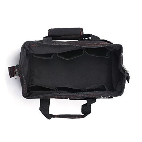 "WORKPRO W081023A Storage Tool Bag, 18"", Black/Red"