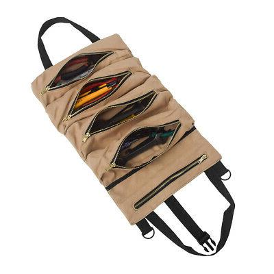 Tool Waxed Canvas Tote Carrier Holder Small Tool