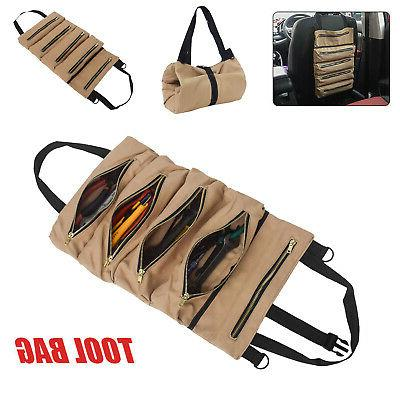 Tool Roll Waxed Canvas Tote Small