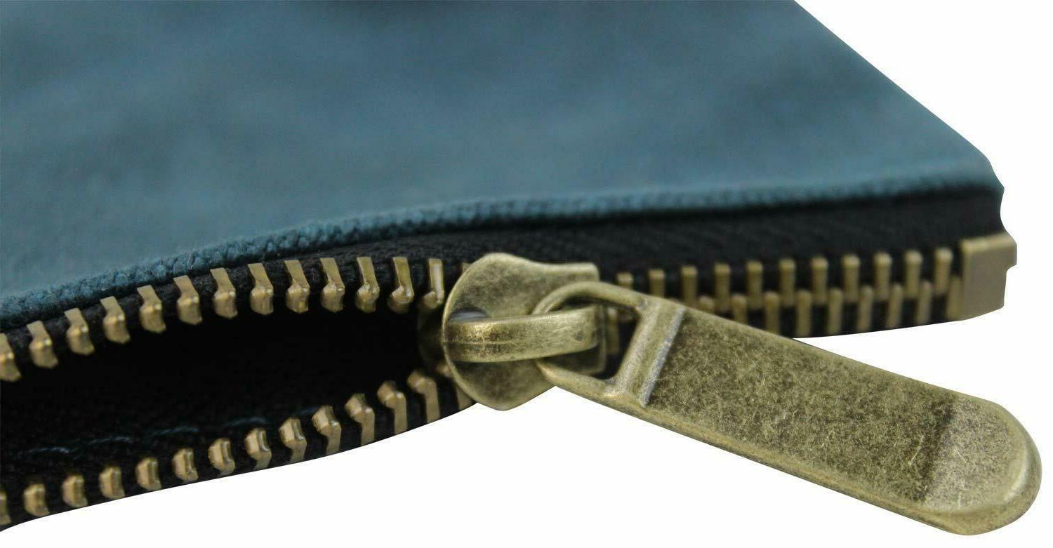 4 Bags Waxed Canvas Heavy Duty Metal Zipper and