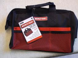 Craftsman Large mouth Reinforced Tool Bag 13 in. Black/Red 9