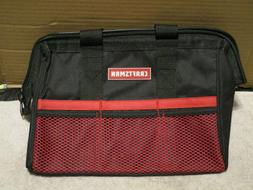 Craftsman large mouth tool bag pouch carrier 12 inch 3 pocke