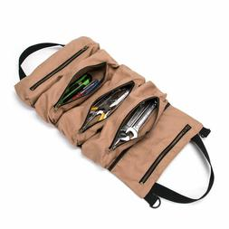 Super Tool Roll, Large Wrench Big Roll Up Bag, Waxed Canvas