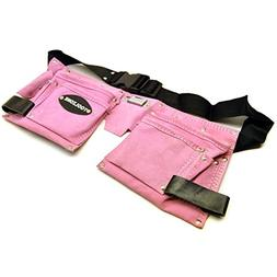 Leather Tool Belt / Storage Pouch PINK LADIES Tool Bag / Rol