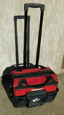 "LIGHTLY USED HUSKY HEAVY DUTY 18"" ROLLING TOOL BAG"