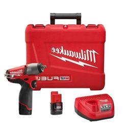 Milwaukee 2454-22 M12 Fuel 3/8 Impact Wrench Kit W/2 Bat
