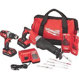 Milwaukee M18 18 Volt Tool Kit Includes Drill, Sawzall, 2 Ba