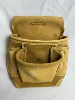 McGuire Nicholas 2 Pocket Tool Bag Pouch Full Grain Split Le