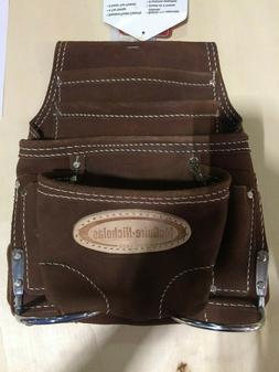 Mcguire-Nicholas 688 Nail & Tool Bag  Brown Genuine Sueded L