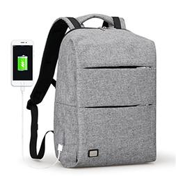 Men's 15.6-Inch Laptop Backpack High-Capacity Student Backpa