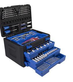 Kobalt 227 Piece Standard  and Metric Mechanic's Tool Set wi