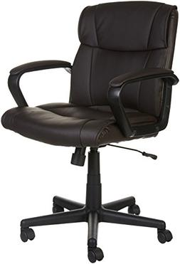 AmazonBasics Mid-Back Office Chair, Brown