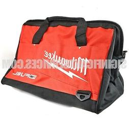 Milwaukee Bag 17x11x11nch Heavy Duty Canvas Tool Bag 6 Pocke