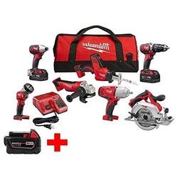 Milwaukee M18 18-Volt Lithium-Ion Cordless Combo Kit  W/  5.