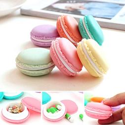 Voberry® 6 PCS Mini Earphone SD Card Macarons Bag Storage B