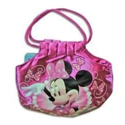 "Minnie Bowtique 7"" Satin Handbag with Rope Handle"