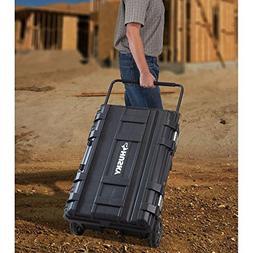 Husky 25 gal. Mobile Utility Work Cart for Tool Storage, Bla
