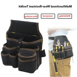 Multi Electrician Tool Bag Waist Pocket Pouch Belt Storage H