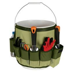 Multi Pockets Garden Tools Kit Storage Bucket Bag Handbag Ho