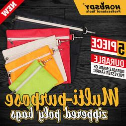 Multi-Purpose Zipper Tool Bags Set Organize Storage Pouch Ca