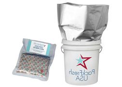 5 Gallon Mylar bags with 2000cc oxygen absorbers